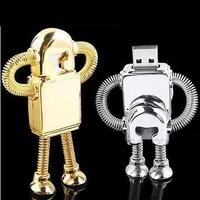 Free Shipping Flash Drive Robot  Full Capacity 1GB/2GB/4GB/8GB/16GB/32GB/64GB Metal USB Flash Drive