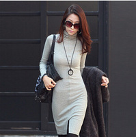 Drop shipping 2014 new Korean fashion long-sleeve turtleneck winter dress slim women dress