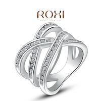 Wholesale Roxi Fashion Accessories Jewelry Gold Plated CZ Diamond Triple-line Cross Love Gift for Women
