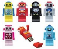 Free Shipping Robot USB Flash Drive  Full Capacity 1GB/2GB/4GB/8GB/16GB/32GB/64GB Swivel USB Flash Drive