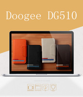 2014 new Horizontal Leather Case Cover for Doogee DG510 Quad Core MTK6589 5.0 inch Cell phone With Card holder,Free Shipping