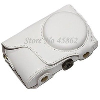 White PU Leather case for Samsung Galaxy GC100 EK-GC100 GC110 GC120 camera bag+Free shipping