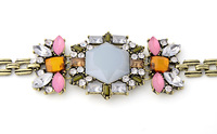Free Shipping 2014 New Hotsale Fashion Good Quality For Women Vintage Flower Bracelet Brief Jewelry Bib Jewelry