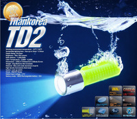 TD2 Professional diving torch CREE XML-U2 1200LM Diving flashlight 3 MODE with Velcro hand straps