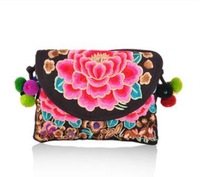 Free Shipping !Newest national trend faced embroidery embroidered shoulder bag nation trend bag