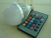 60pcs/lot AC85-265V 10W RGB Led Lighting Colorful LED Bulb Lamp Spotlight with Remote Control