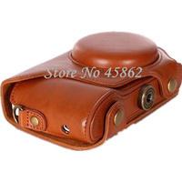 brown pu Leather case bag for camera bag camera case for Samsung Galaxy GC100 EK-GC110 GC120