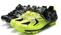 2014 Popular Breathablity Buckle Mountain Bike Shoes Men Shoes Sports MTB Cycling Shoes Black Green 44#