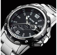 2014 Famous Fashion Skone Brand Men Stainless Steel Watch Full Steel Casual Watch Quartz Analog Dress Wristwatch Waterproof