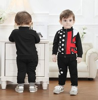 2014 new kids baby boy coat+kids pants two pieces clothing  sports set print minnie baby tracksuits