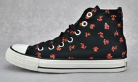 Free Shipping Fashion New Design Cute Flowers Print Girl Sneaker Shoes Lady Casual Shoes