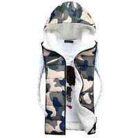 Hot sale free shipping men winter sleeveless jacket cotton padded wasitcoat winter vest 4 COLORS M L XL XXL
