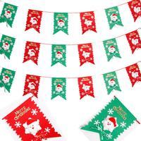 Wholesale 5pcs / lot! Christmas products Santa Claus hanging flags square flag Christmas hang flags Free Shipping