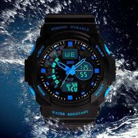 Original SKMEI Men Sports Wristwatch Military Quartz Watches Waterproof Digital Wrist Watch Clock Casual LED Men's Wristwatches