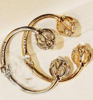 Fashion hollow metal lantern-shaped crystal ball bracelet personalized jewelry woman