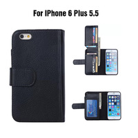 Multifunctional Phone Bag Credit Card Holder Wallet For Apple iPhone 6 Plus 5.5 inch   + 100pcs/lot + DHL Free Shipping