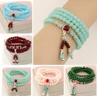 Wholesale Good luck multilayer prayer bracelet charm crystal women jewelry,12pcs/lot