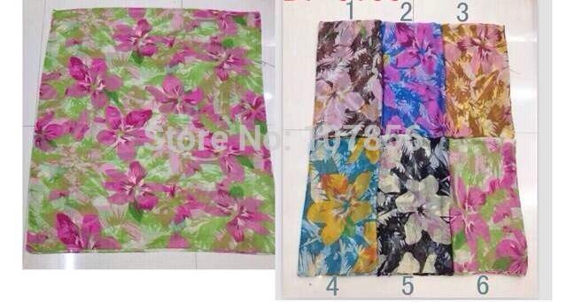 Free shipping ! Fashion Ladies flower print scarf(China (Mainland))