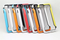 For iphone6 High quality Dual color TPU+PC Frame Bumper for iPhone 6 4.7 inch  + 100pcs/lot Free Shipping