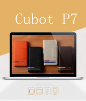 2014 new Horizontal Leather Case Cover for 5.0 inch IPS Cubot P7 3G Smartphone Cell phone With Card holder,Free Shipping