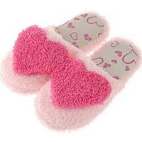 Women's Heart Design Coral Fleece Lovers Indoor Floor Slippers Sky Blue/Red/Purple