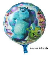 10pcs/lots wholesales 18 inch Monsters University balloon Birthday party Printed cartoon balloons Hot Free shipping