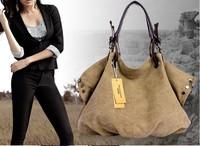 2014 new fashion Women retro Handbags Women high canvas bigger shoulder bag both handle Bolsas Femininas
