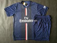 Ligue 1 Jersey 2014/15 T.SILVA MENEZ CAVANI IBRAHIMOVIC LAVEZZI VERRATTI PASTORE LUCAS soccer jersey & shorts kit 2015