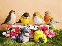 6 pieces =1 set Villa landscape gardening decorations * display * garden ornaments * chubby resin bird ornaments balcony