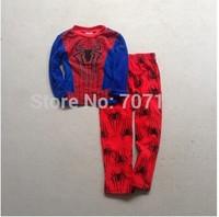 EMS - AU Free shipping children kids boy spider-man RED PANTS Fleece winter long sleeves pajamas 2pieces  pyjamas sleepwear