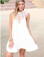 New party dresses women clothing Slim Sexy lace sleeveless halter summer women dress 2014 vestidos femininos casual dress