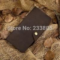 NEW Hot sell Vintage high quality genuine leather wallet purses and handbags bolsas femininas men wallets