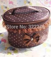 10pc/lot Factory Sale Fashion Bowknot cosmetic bag make up bag  beauty bag 20*12.5cm  KB918-11
