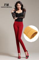 Women Trousers Plus Size Black Leggings Winter Leggings Skinny Pencil Colored Pants Elastic Fitness Clothing For Women AW14P024