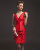 2014 high-quality multi-colored  design company party dress bridesmaid senior year will be tailored dress