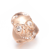 Christmas Gift  European and American Style  18K Gold  Exaggeration Punk the Skull   Ring