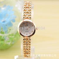 Wholesale!5pcs/lot  Fashion Casual Lady Women Dress Bracelet Watch Alloy Strap Analog Quartz White Rhinestone Wrist Watches