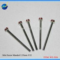 5Pcs Mini Screw Mandrel Rotary 2.35mm Arbor Shank 3/32 Arbour Rotary Tool Bits For for Dental Lab Jewelry Beauty Polishing Burrs