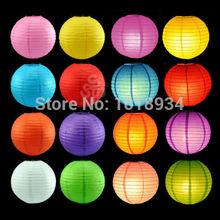 "10pcs/lot Round Multicolor Chinese Paper Lanterns 10""   Wedding Birthday Party(China (Mainland))"