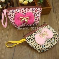 50pc/lot Factory Sale Fashion Leopard cosmetic bag make up bag  coin bag  12*9cm  KB918-14