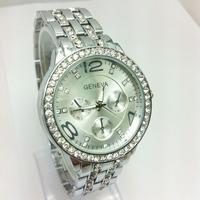 25pcs/lot,Geneva Analog Watch On Sale Steel WristWatches Women Rhinestone Dress Watches Geneva Casual gift Ladies Quartz Watches