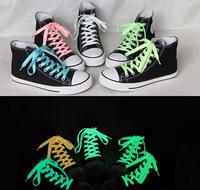 12pcs/lot Luminous Shoelace Glow In The Dark Colorful Fluorescent Sport Shoelace Kids Children Party Gift 100cm 6 Colors
