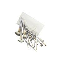 Professional Makeup Brush tools Make-up Toiletry Kit Metal Brand Make Up Brush 18pcs Brushes PU Bag  Free Shipping Z630