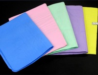 4 Colors PVA Chamois Car Wash Towel Cleaner Sport Baby Pet Screen Cleaning Hair Drying Cloth with Tube free shipping  42 * 32cm