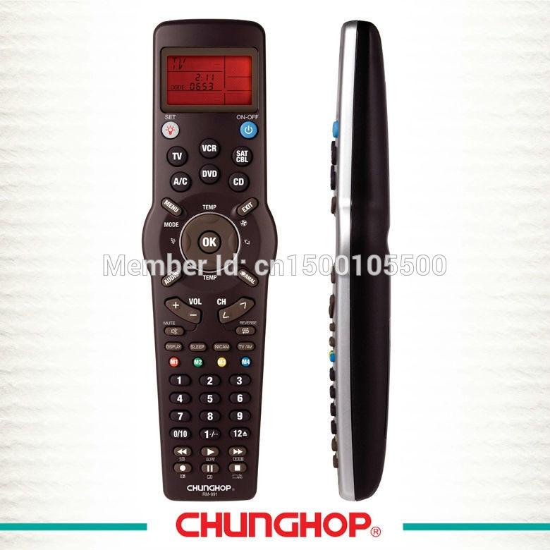 Chunghop learning modular universal LCD screen universal remote control RM-991(China (Mainland))