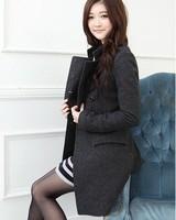 New 2014 casacos femininos women coat Women's Double-breasted Woolen Coat Autumn Winter wool coat slim winter coat women 599