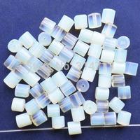 (Min.order 10$ mix)70pcs Beautiful Opal Opalite Column Pendant Bead SAM0372