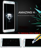 Nillkin 9H Hardness Anti-Explosion Tempered Glass Screen Protector For Samsung Galaxy Note 4 /N9100 Clear free shipping