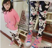 Free shipping 5pc/lot Cotton Dog Print Girls Skinny leggings / Long Pants ,children Printed leggings Pants
