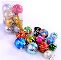 13 colored balls mixed loading 2014 new Christmas ball  Christmas ornaments Christmas tree package shipping